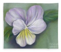 Viola Purple And Yellow Fleece Blanket