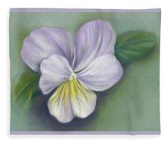 Viola Purple And Yellow Fleece Blanket