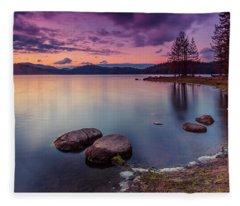 Violet Dusk Fleece Blanket