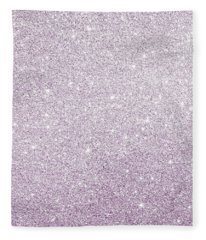 Violet Glitter Fleece Blanket