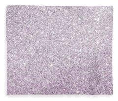 Violet Glitter Fleece Blanket