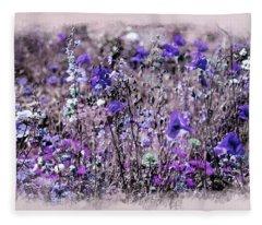 Violet Mood Fleece Blanket