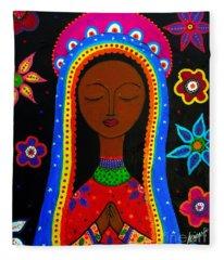 Virgen Guadalupe Fleece Blanket