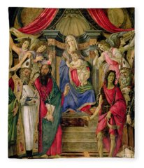 Virgin And Child With Saints From The Altarpiece Of San Barnabas, Fleece Blanket