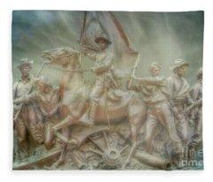 Virginia At Gettysburg Fleece Blanket