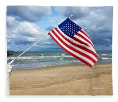 Virginia Beach Salute Fleece Blanket