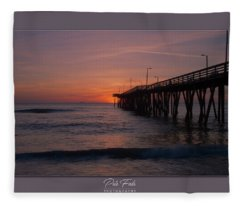 Virginia Beach Sunrise Fleece Blanket