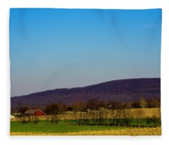 Virginia Mountain Landscape Fleece Blanket
