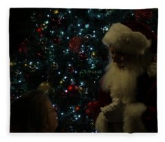 Visit With Santa Fleece Blanket