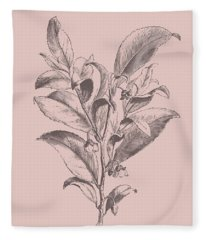 Visnea Mocanera Blush Pink Flower Fleece Blanket