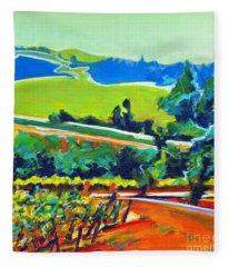 Vistas And Vineyards Fleece Blanket