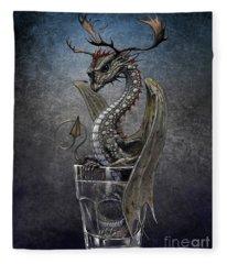 Vodka Dragon Fleece Blanket