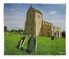 Wadenhoe Church Northamptonshire Fleece Blanket