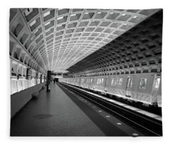 Waiting At Pentagon City Station Fleece Blanket