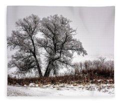 Waiting Fleece Blanket