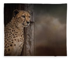 Waiting Out The Storm Fleece Blanket