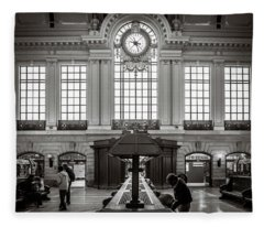 Fleece Blanket featuring the photograph Waiting Room by Steve Stanger