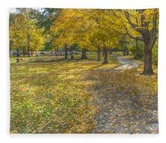 Walk In The Park @ Sharon Woods Fleece Blanket