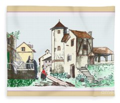 Walk Through Town Fleece Blanket