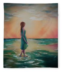 Walk Through Water Fleece Blanket