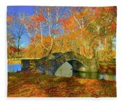 Walking Bridge Fleece Blanket
