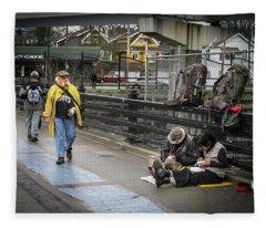 Walking-travellers Fleece Blanket