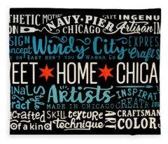 Wall Art Chicago Fleece Blanket
