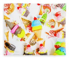 Wall Of Sweetness Fleece Blanket