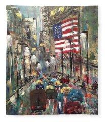 wall street NY Fleece Blanket