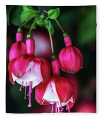 Wallpaper Flower Fleece Blanket
