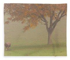 Walnut Farmer, Beynac, France Fleece Blanket