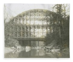 Walnut Lane Bridge Fleece Blanket