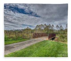 Walnut Woods Bridge - 1 Fleece Blanket