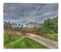Walnut Woods Bridge - 2 Fleece Blanket