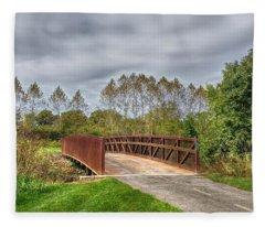 Walnut Woods Bridge - 3 Fleece Blanket
