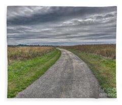 Walnut Woods Pathway - 1 Fleece Blanket