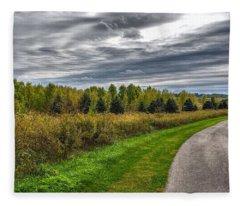 Walnut Woods Pathway - 2 Fleece Blanket