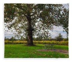 Walnut Woods Tree - 1 Fleece Blanket