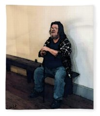Walt Sitting Fleece Blanket