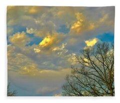 Warm And Cool Sky Fleece Blanket