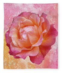 Warm And Crunchy Rose Fleece Blanket