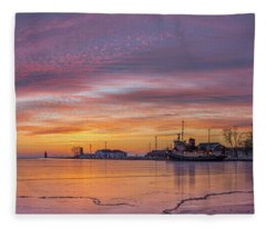 Warm Emotions On A Cold Morning Fleece Blanket