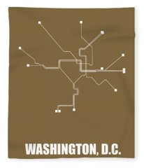 Washington, D.c. Subway Map 2 Fleece Blanket