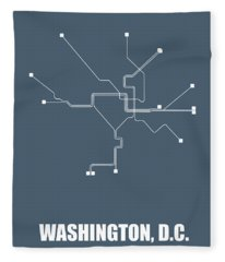 Washington, D.c Subway Map Fleece Blanket