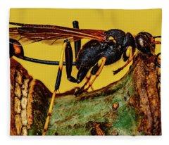 Wasp Just Had Enough Fleece Blanket
