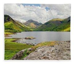 Wastwater And Lake District Fells Fleece Blanket