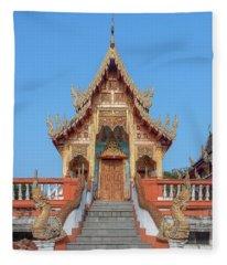 Wat Nong Tong Phra Wihan Dthcm2639 Fleece Blanket