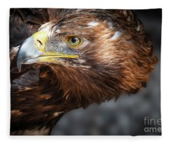 Watching Eagle Fleece Blanket