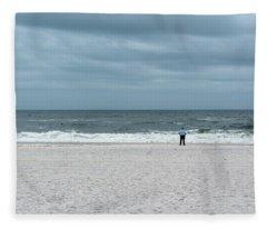 Watching The Waves Fleece Blanket