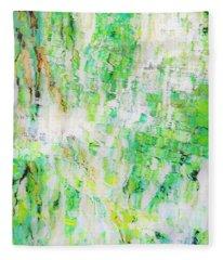 Water Colored  Fleece Blanket